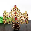 Диадема МАДОННА корона и серьги набор красная корона высокая диадемы свадебные аксессуары для волос, фото 8
