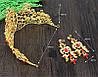 Диадема МАДОННА корона и серьги набор красная корона высокая диадемы свадебные аксессуары для волос, фото 9