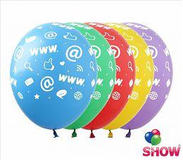 """Воздушные шарики """"Интернет"""" 12"""" (30 см)  ТМ Show"""