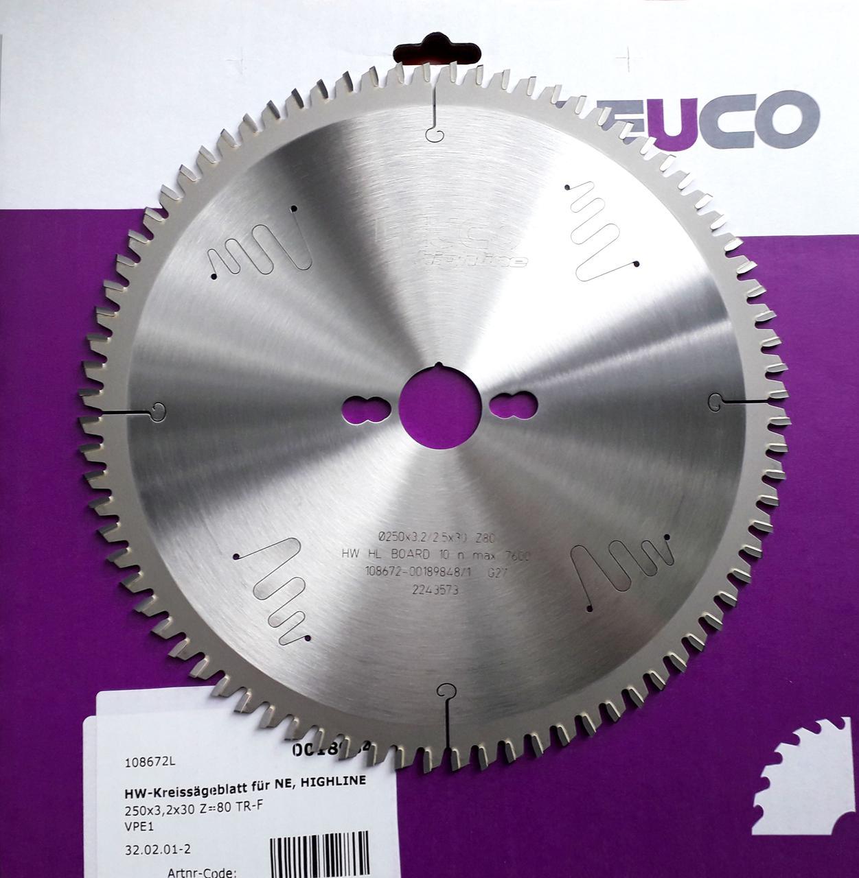 250x3,2x2,5x30 Z=80 Пильный диск Leuco для резки алюминия, торцевание и косой рез