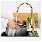 IKEA NYVATTNET Смеситель для кухни, полированная латунь цвет  (203.416.54), фото 2