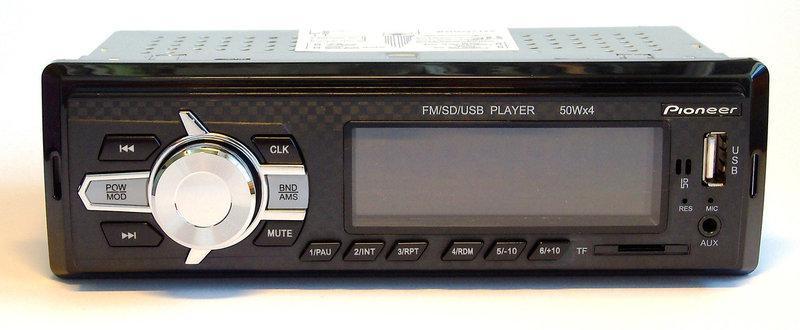 Pioneer 6085 магнитола автомобильная Bluetooth-6085 с подсветкой