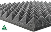 Поролон акустический пирамида 2Д/70, 70х1000х1000мм