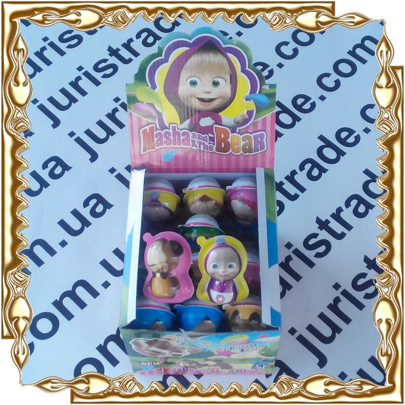 Яйцо King Egg фигурка Маша и Медведь 15 гр. 24 шт./уп.