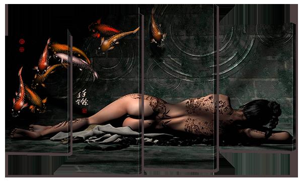 """Модульная картина """"Спящая девушка. Ню"""""""