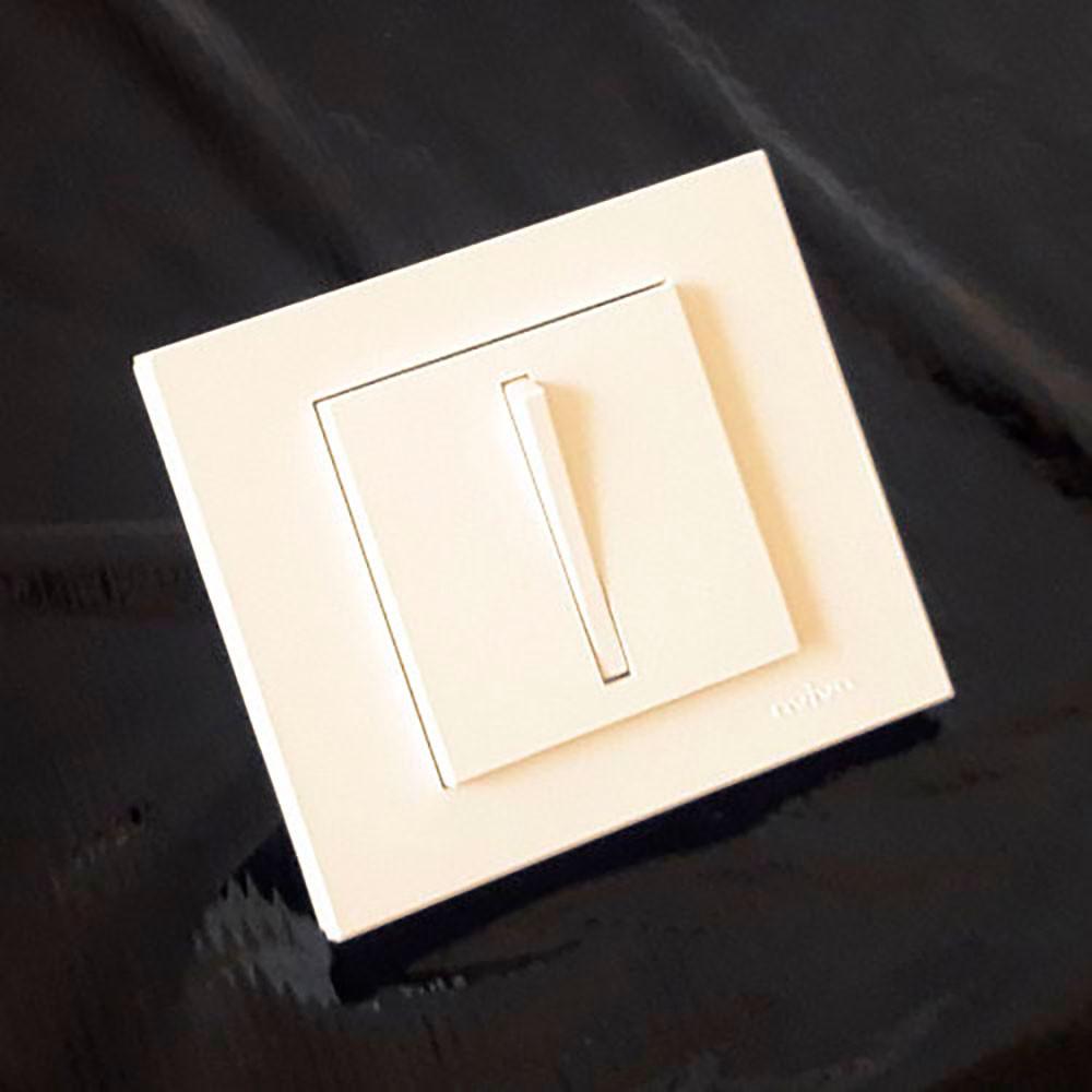 Выключатель проходной Grano Slim крем