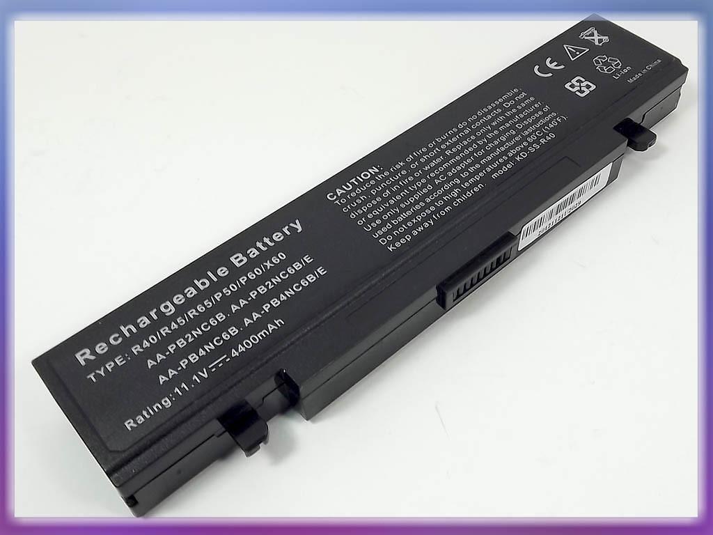 Аккумулятор SAMSUNG R60 10.8V 4400mAh (AA-PB4NC6B AA-PB6NC6B)