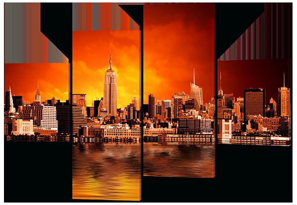 Модульная картина Панорама Нью-Йорка с небоскребами