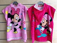 Полотенце-пончо для девочек оптом, Disney, 50*100 см,  № 79292, фото 1