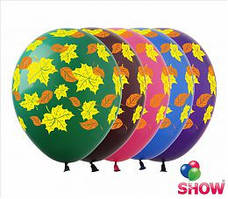 """Воздушные шарики листики 12"""" (30 см)  ТМ Show"""