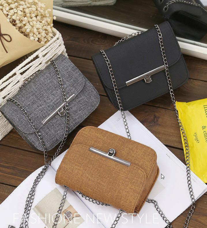 Модная сумка клатч под ткань на цепочке