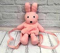 Сумка-рюкзак-игрушка КРОЛИК из натурального меха 11-04