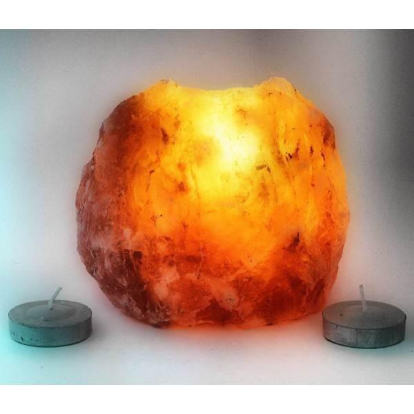 Подсвечник соляной (Natural)(S-006)(+-10х10х8 cm)(12 шт ящ.)(Гималайская соль)