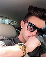 Мужские солнцезащитные очки клабмастер Gucci 449 черн красный