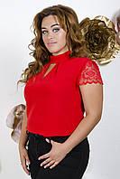 Блузка женская норма молодежная рюш АР, фото 1