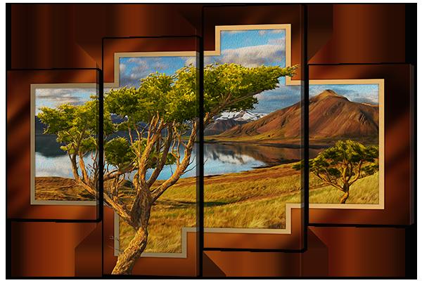 Модульная картина Дикая природа Африки
