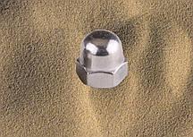 Гайка М4 DIN 1587, ГОСТ 11860-85 колпачковая из нержавейки