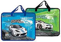Тека-портфель А4 пластикова з текстильними ручками KIDIS 4 Sport car