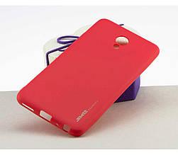 Soft-touch силиконовый чехол SMTT для  Meizu Pro 6+ Красный