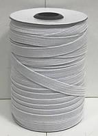 Эластичная тесьма (резинка текстильная) т. 8,0 мм цвет белый