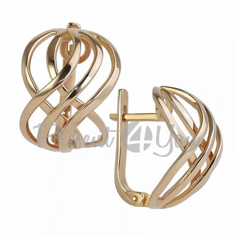 Золотые серьги Риана- 6,35 г