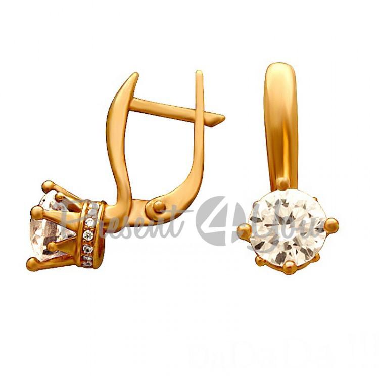 Золотые серьги - 5,59 г