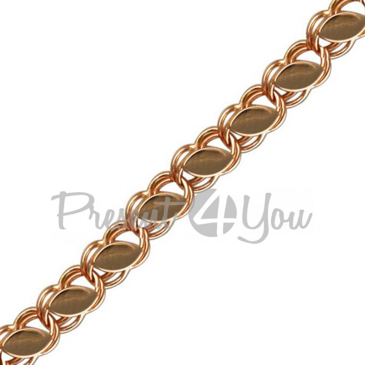 Золотой браслет Бисмарк-6,39 г (BS023u)