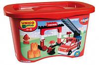 Конструктор Unico Plus Cofanetto Pompieri Пожарник 40 деталей (8548-0000)
