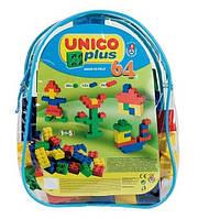 Конструктор в рюкзаке Unico Plus Zaino Piccolo 64 деталей (8555-0000)