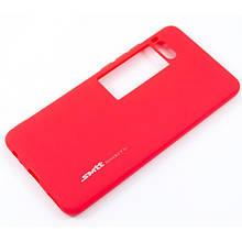 Soft-touch силиконовый чехол SMTT для  Meizu Pro 7 Красный