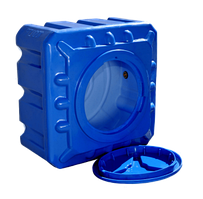 Емкость пластиковая для душа 100 л квадратная (двухслойная)