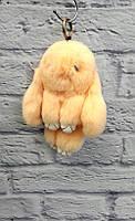Меховой брелок-игрушка КРОЛИК из натурального меха 012