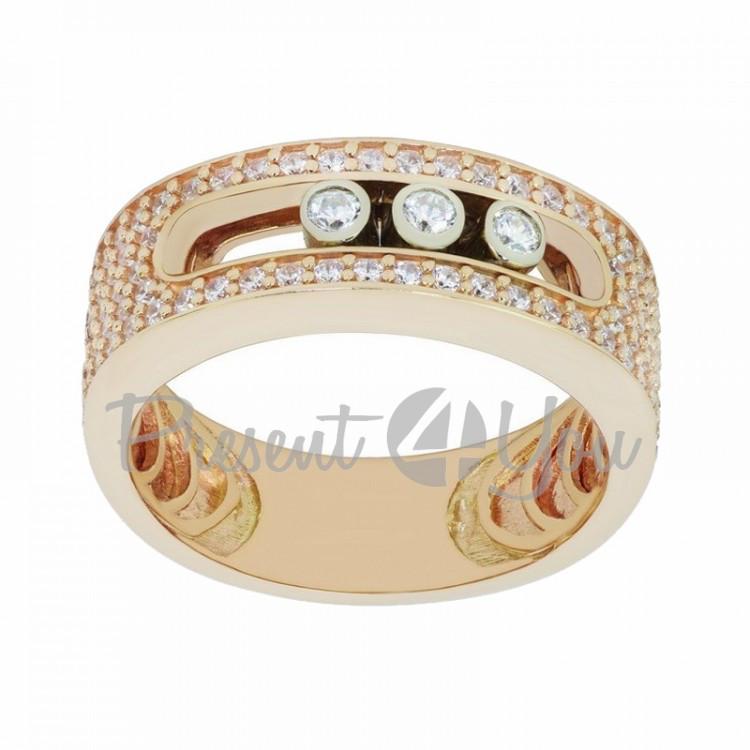 Золотое кольцо Мехико- 2,51 г (KV677)
