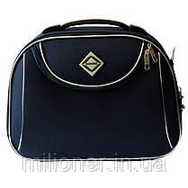 Комплект чемодан + кейс Bonro Style (средний) синий, фото 2