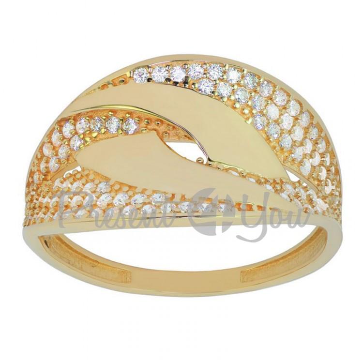 Золотое кольцо Альберта - 2,85 г (KV721u)