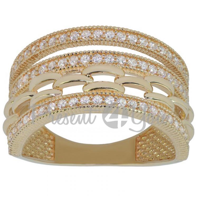 Золотое кольцо Цепочки - 3,76 г (KV696u)