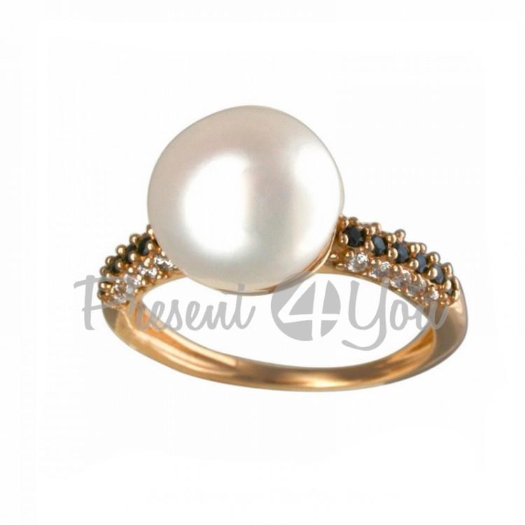 Золотое кольцо Бусинка - 3,32 г (KV441u(1))
