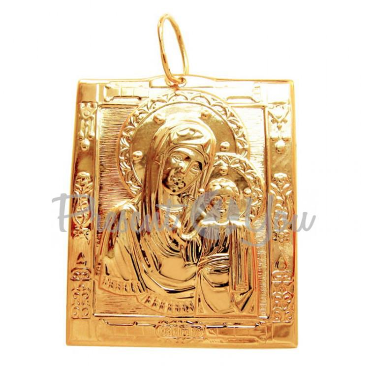 Золотой кулон Божьей Матери - 3,42 г (PB023u)