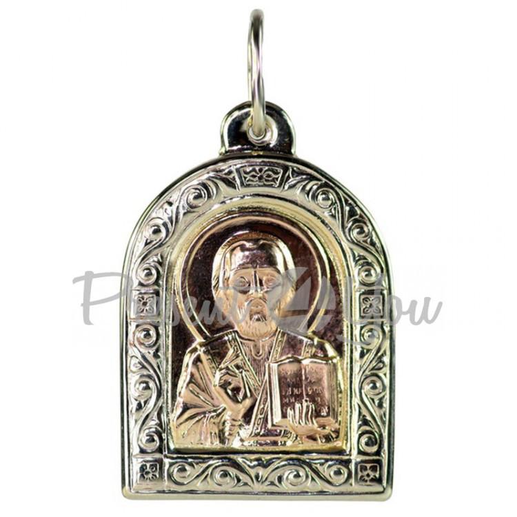 Золотой кулон Святой Николай - 0,84 г (PB072u)