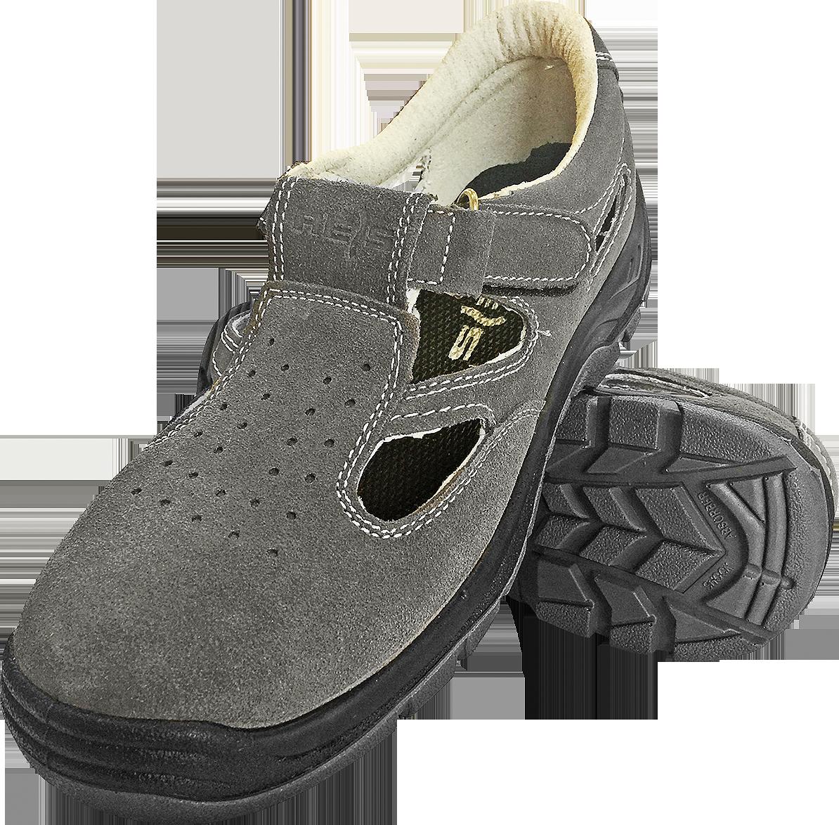 Сандали BRAVEL-S1 SB рабочие кожаные с метноском REIS Польша (обувь защитная)
