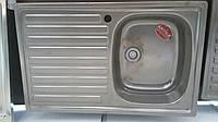 Мойка кухонная стальная эмалированная  ANTIKA 790х50 цвет- evolution, полочка слева