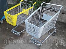 Торговые металлические тележки б у, тележки для супермаркета б/у, торговые тележки б/у