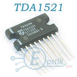 TDA1521, аудио усилитель, 2х12Вт, SIL9P