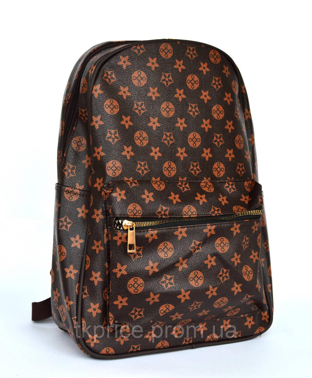 Модный универсальный рюкзак с эко-кожи  5988