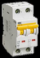 Автоматический выключатель ВА 47-60 2Р 16А 6 кА D IEК, фото 1