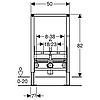 Geberit Duofix Монтажный элемент для биде, высота 82 см, фото 2