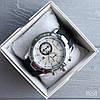 Реплика часов Technomarine серебристые с черным силиконовым ремешком, фото 2
