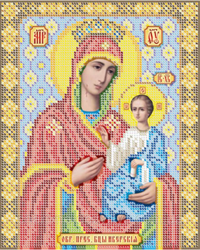 """Схема для вышивки бисером икона """"Богородица Иверская"""""""