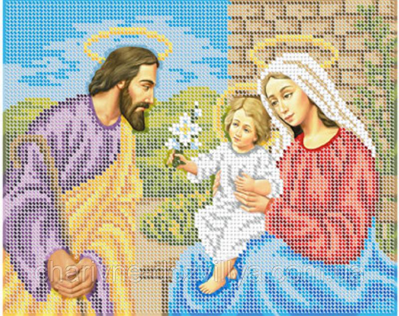 """Схема для вышивки бисером икона """"Святое семейство"""""""