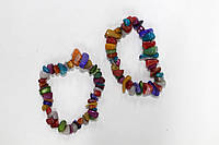 Браслет цветные камешки